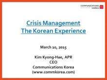 Kim Kyong-Hae, CEO and President of Communications Korea (South Korea)