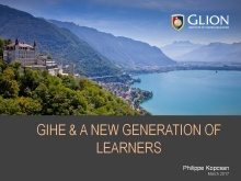 Philippe Kopcsan, Interim CEO, Glion Institute of Higher Education (Switzerland)
