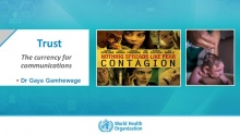 Dr. Gaya Gamhewage, World Health Organisation – Infectious Hazard Management & Risk Communications (Switzerland)