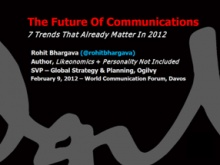 Rohit Bhargava, SVP Global Strategy & Planning at Ogilvy, Adjunct Professor - Global Marketing at Georgetown University