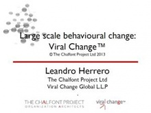 Dr. Leandro Herrero, CEO of The Chalfont Project Ltd. and Managing Partner of Viral Change Global LLP