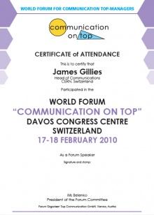 Forum Certificates 2011