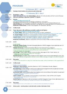 Forum Agenda 2011