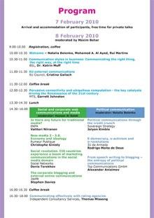 Forum Agenda 2010