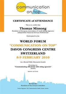 Forum Certificates 2010