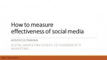 Arsen Sultanyan, IP Marketing co-founder, digital marketing expert (Armenia)
