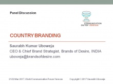Saurabh Kumar Uboweja, Founder, CEO & Director Brand Strategy at Brands of Desire (India)